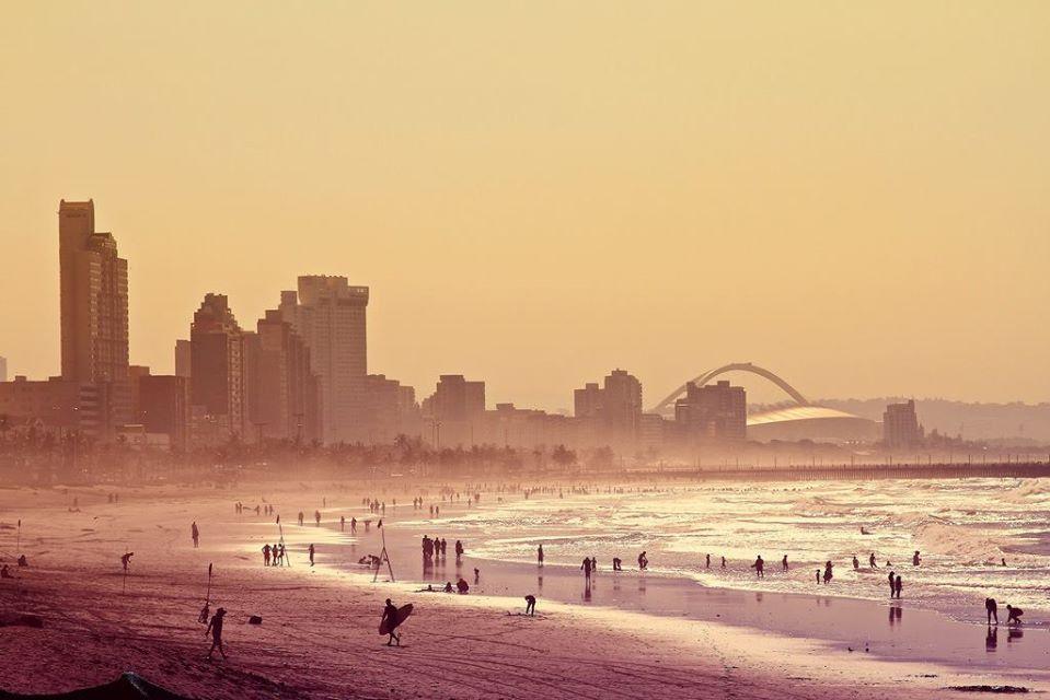 Durban beach in South Africa