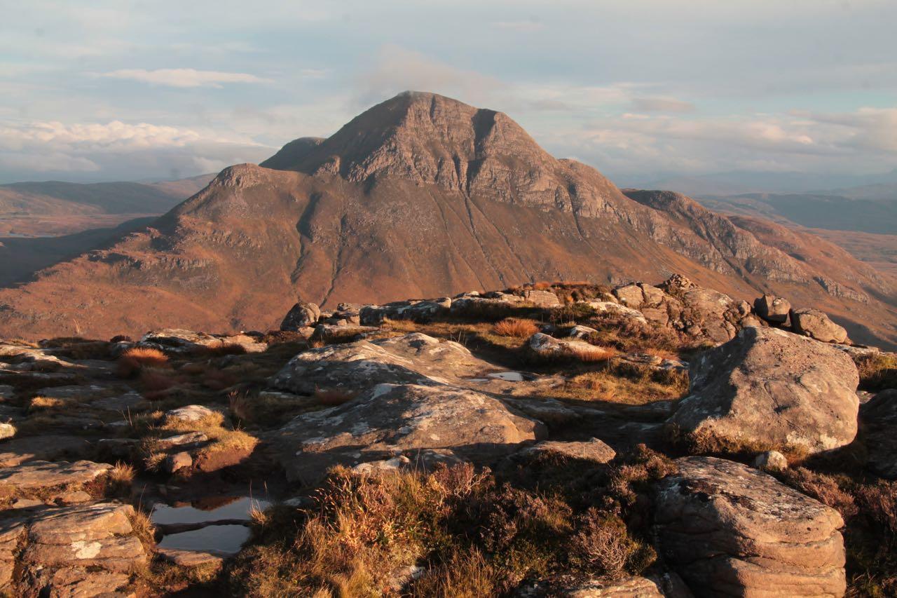 Mountain view, Cul Beag. Sutherland, Scottish Highlands