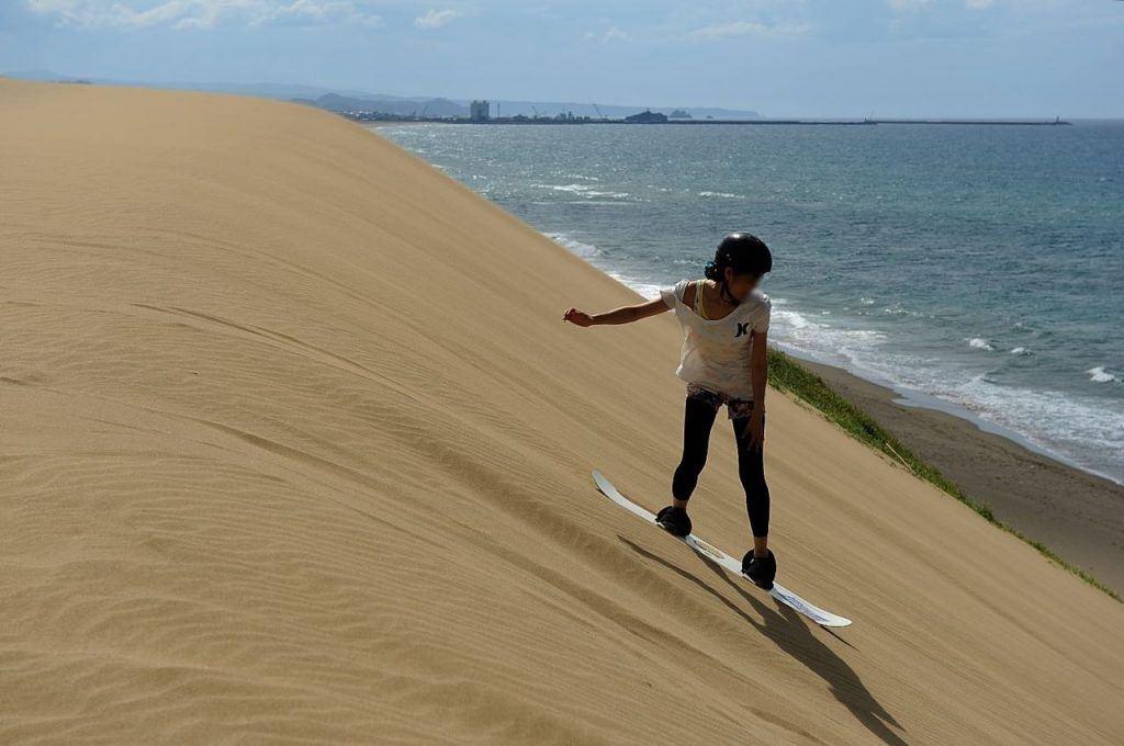 Sandboarding in Tottori, Japan