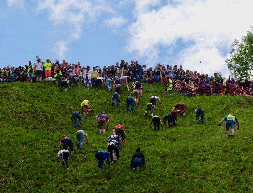 It's not only the downhill. The event also sees an uphill challenge.