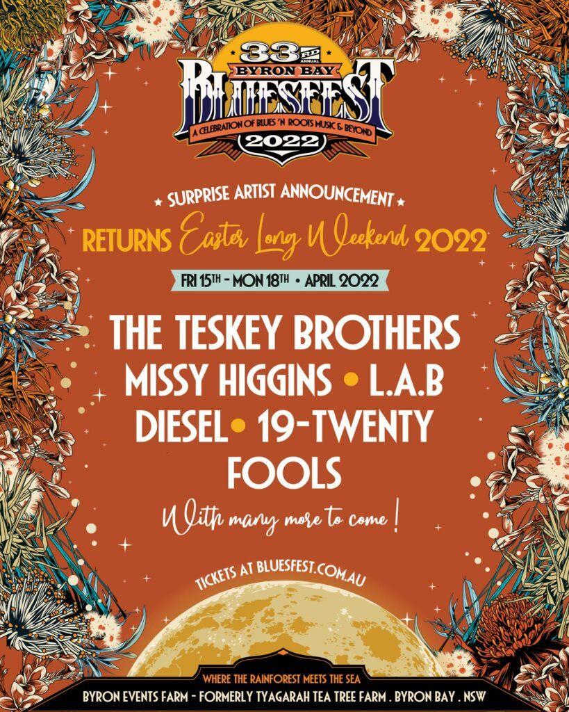 bluesfest Byron Bay lineup 2022