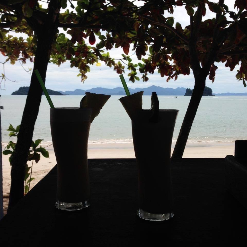 drink on the beach at langkawi