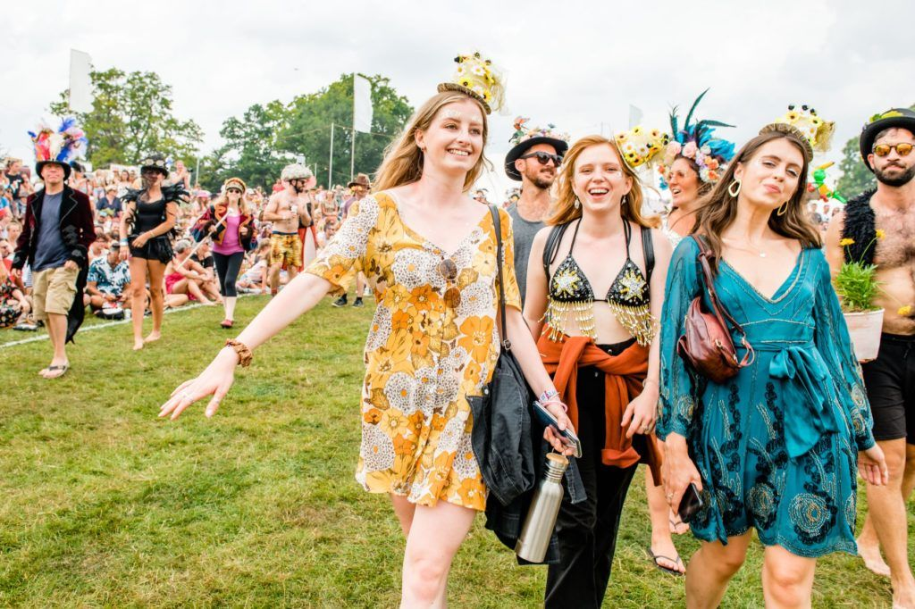 Festival-goers at Wilderness