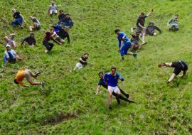 Cheese Rolling 2021 in Gloucester, UK