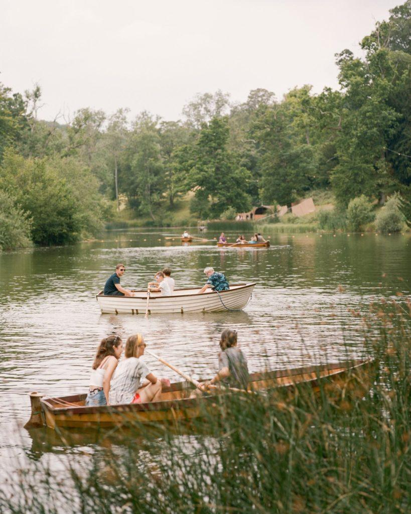 on the lake at the Wilderness Festival