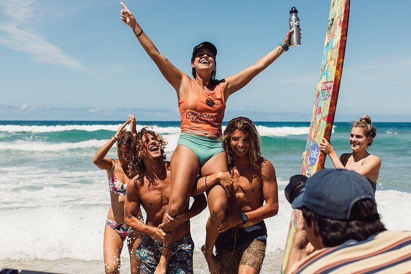 The winner of the Noosa Festival of Surfing