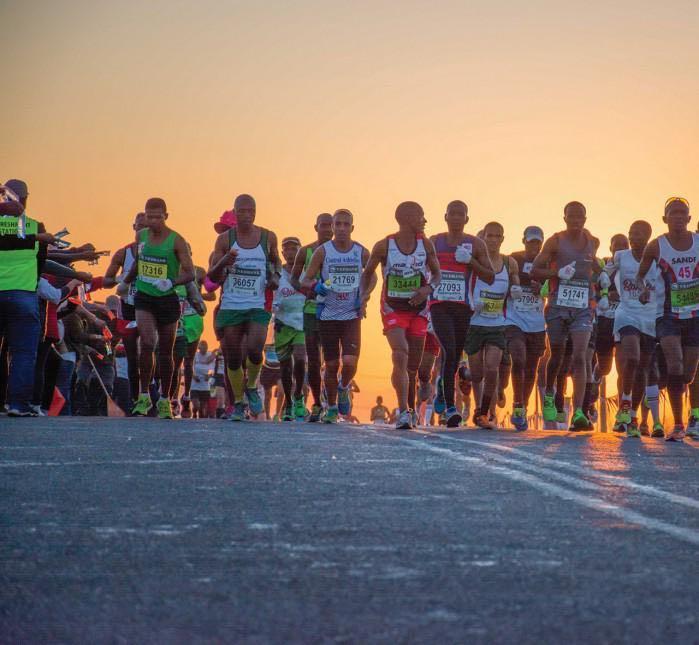 South Africa Comrades Marathon runners