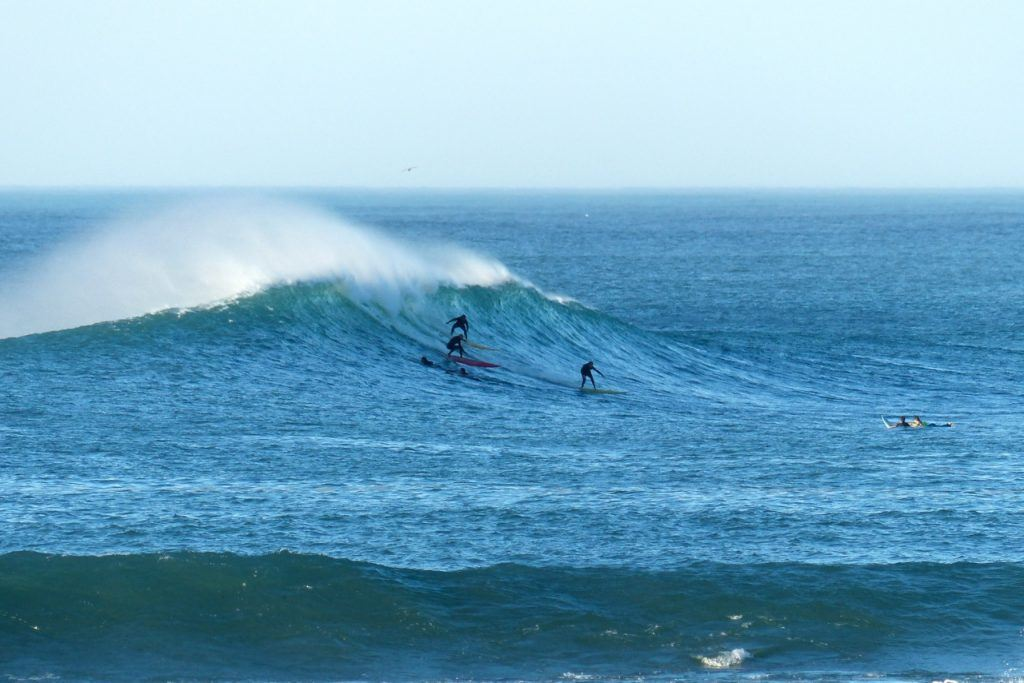 Surfing Guethary In Southwest France