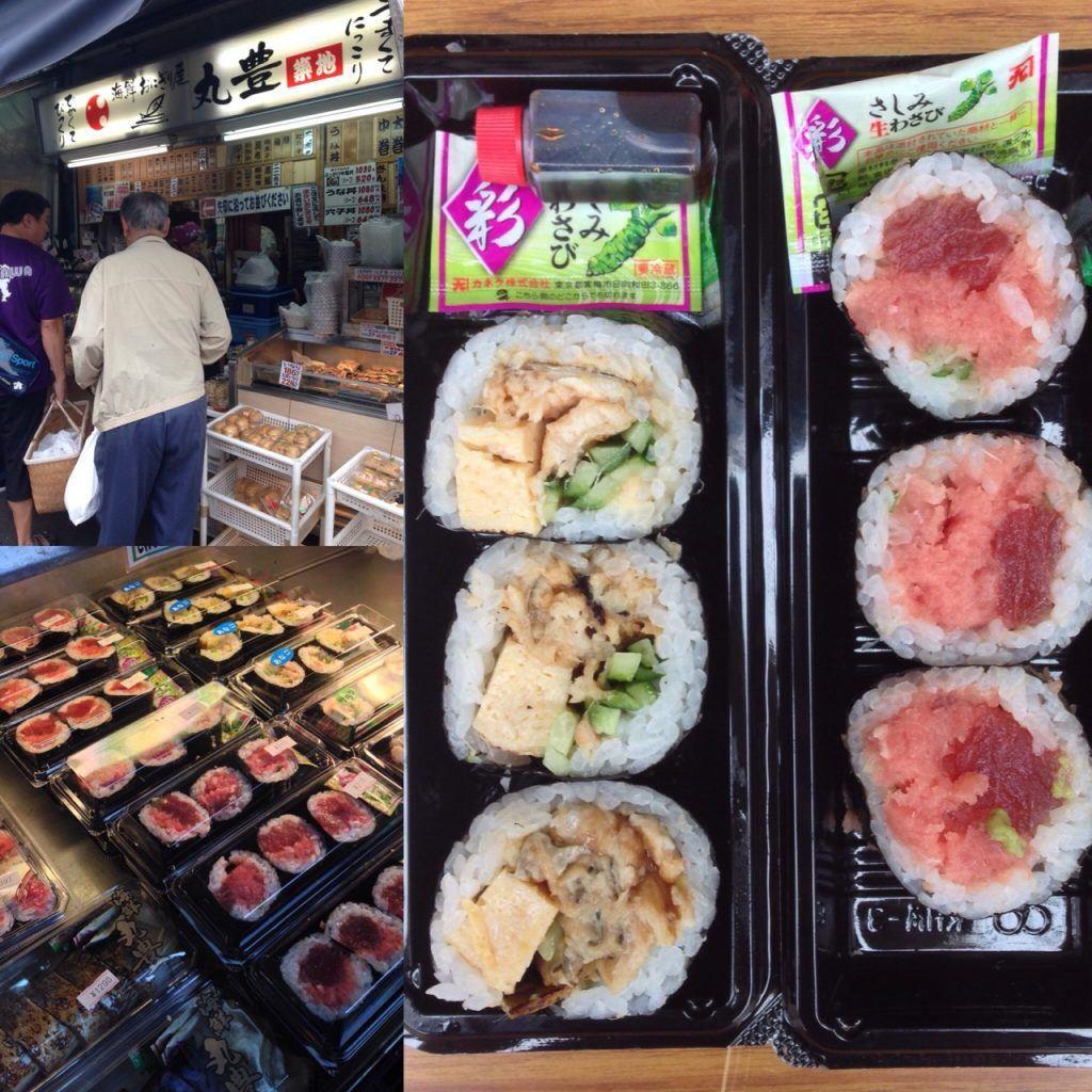 Cheap eats in Tokyo, SUSHI ROLLS