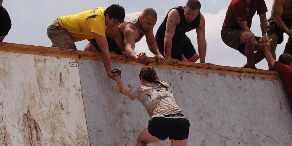 Train for a tough mudder wall climb