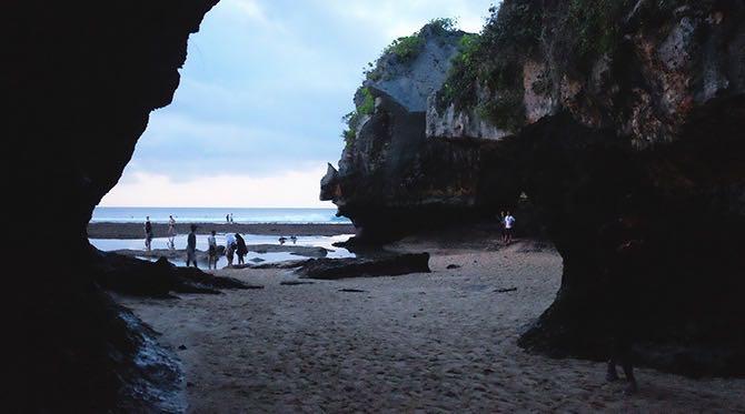 Hidden caves at Suluban beach, Bukit Peninsula