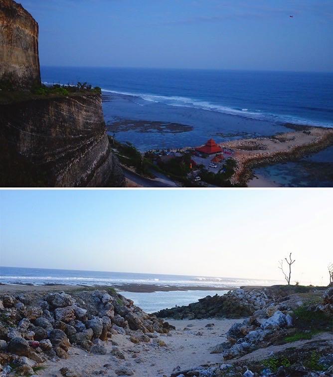 high cliffs at Melasti Beach, Bukit Peninsula