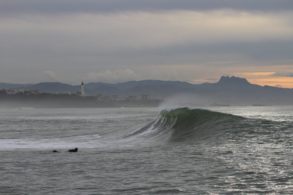 Surfing Anglet In Southwest France