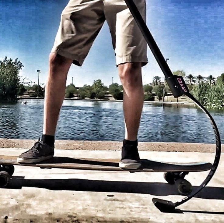 BraapStik performance land paddle for longboarding and cross training