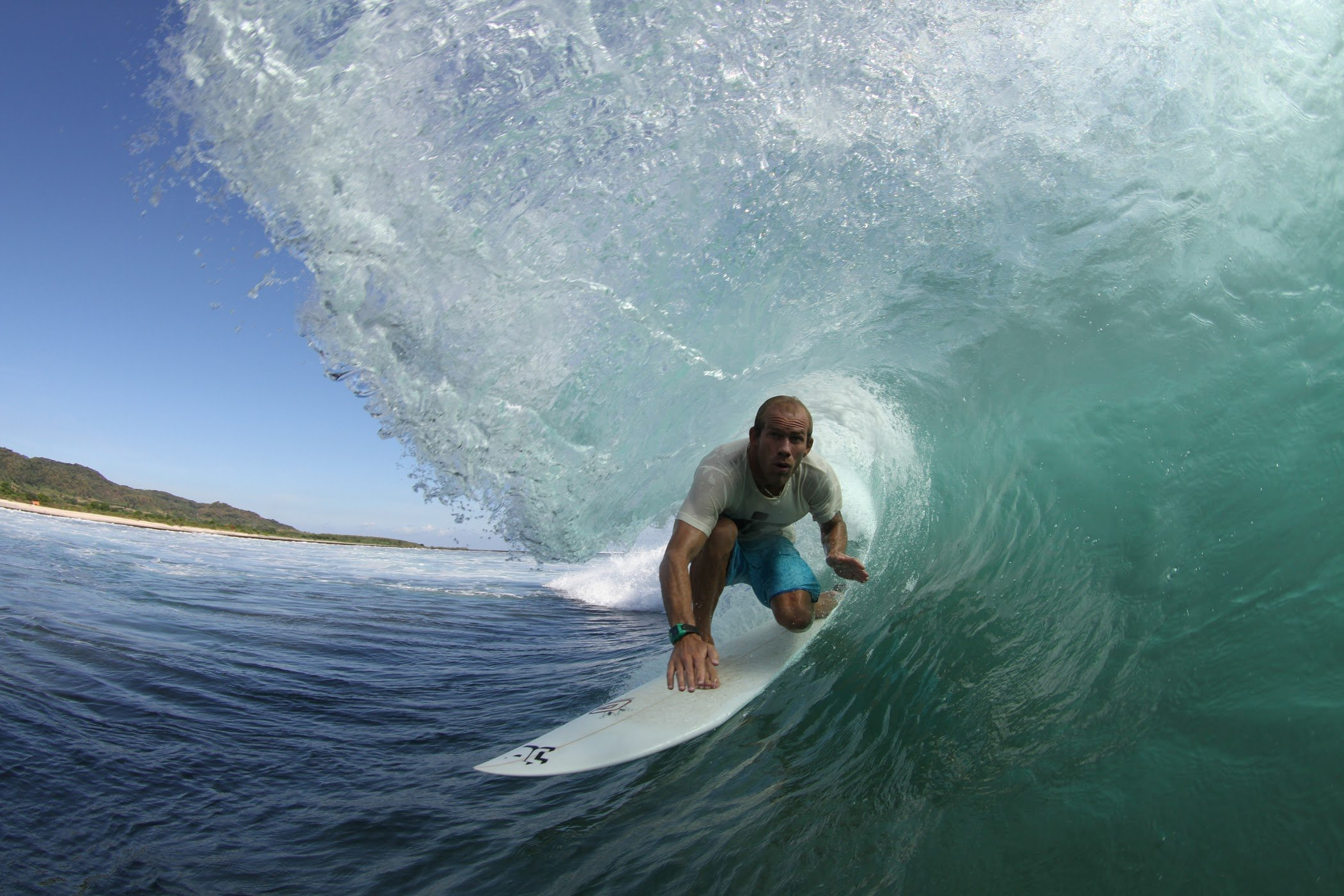 Getting barrelled in Indonesia