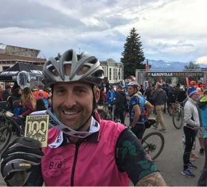 Leadville 100 MTB cyclist