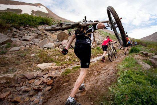 Leadville 100 MTB uphill climb