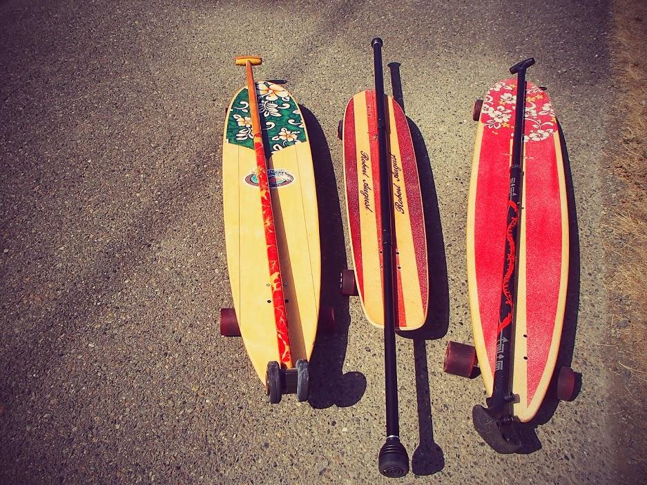 Land paddles, and land paddling boards