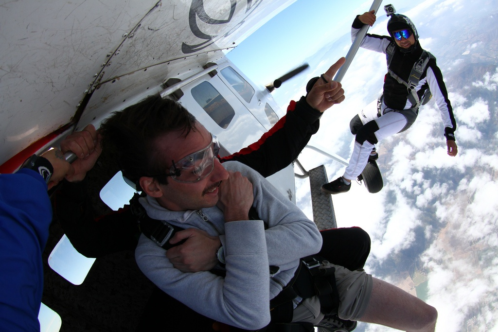 Skydiving in the Andes, Chile