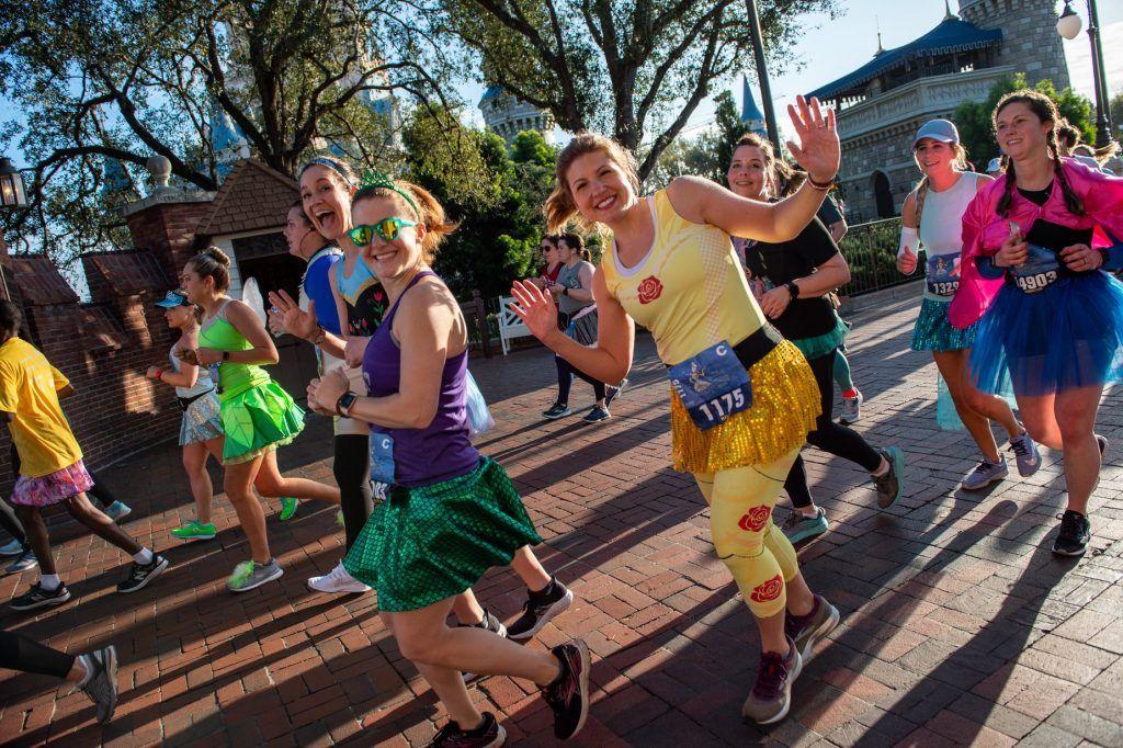 Runners in Disney World
