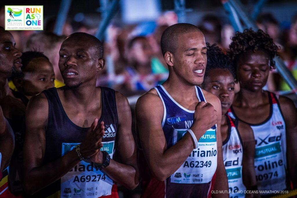 the seconds before the start at Two Oceans