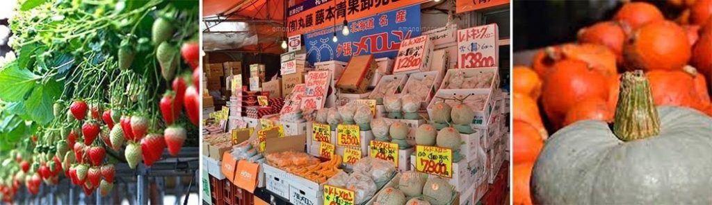 fruit and vegetables in Hokkaido Japan
