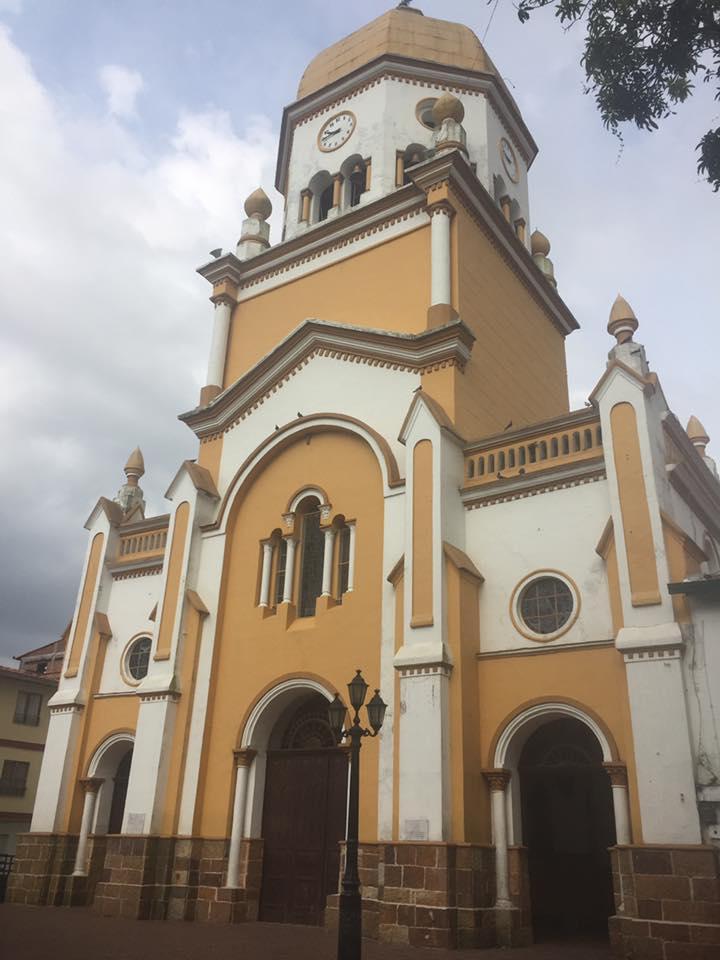 San Rafael Colombia church in the town cener