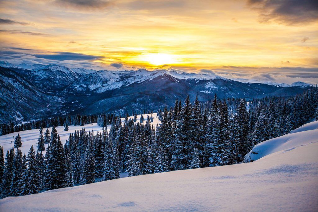skiing and other snow activities in winter