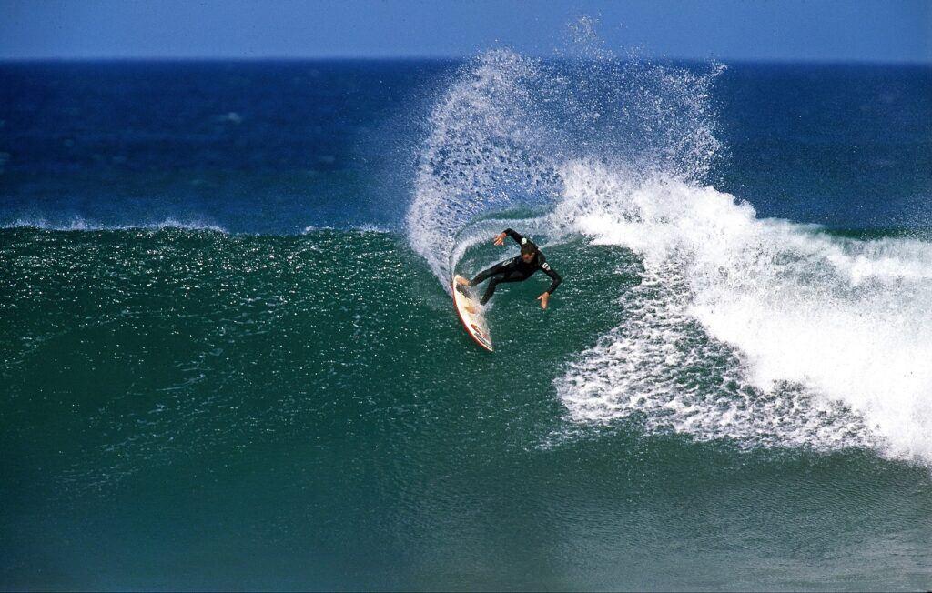 surfer at Bell Beach