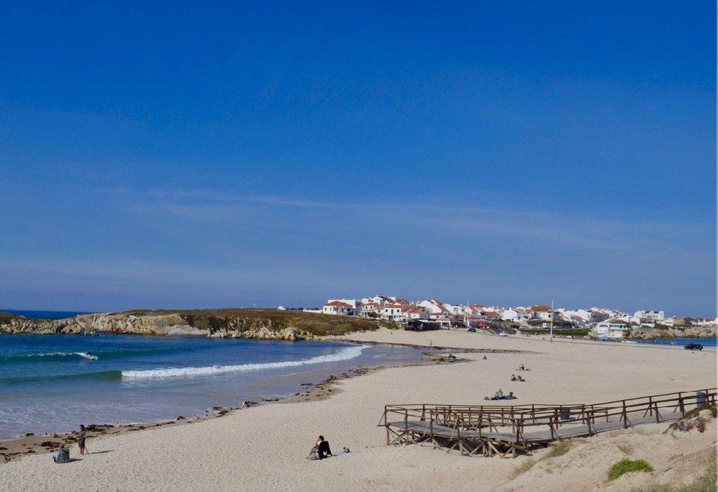Supertubos beach in Peniche