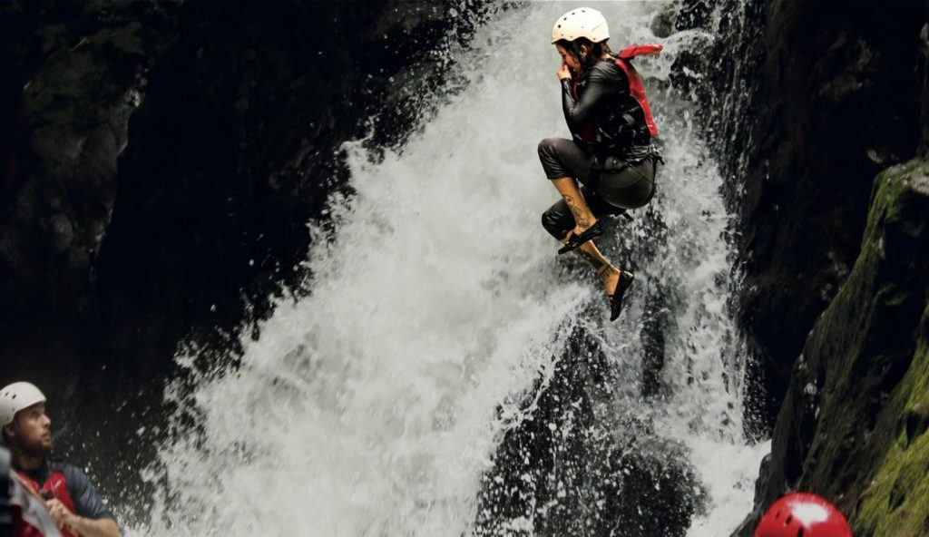 Waterfall Jumping and Canyoning Gravity Falls Costa Rica