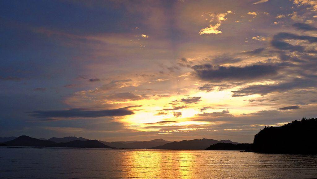 sunset over Miyajima Island, hiroshima