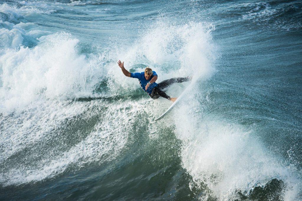 Epic waves at Huntington Beach