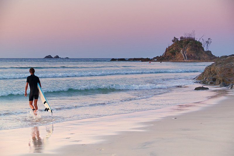 Surfing the pass, Byron Bay