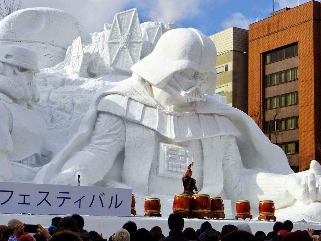 Sapporo Ice Festival in Japan