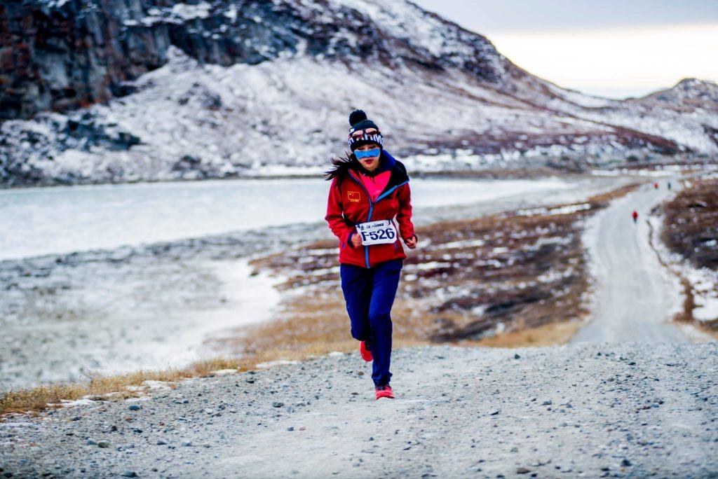 Running on gravel road