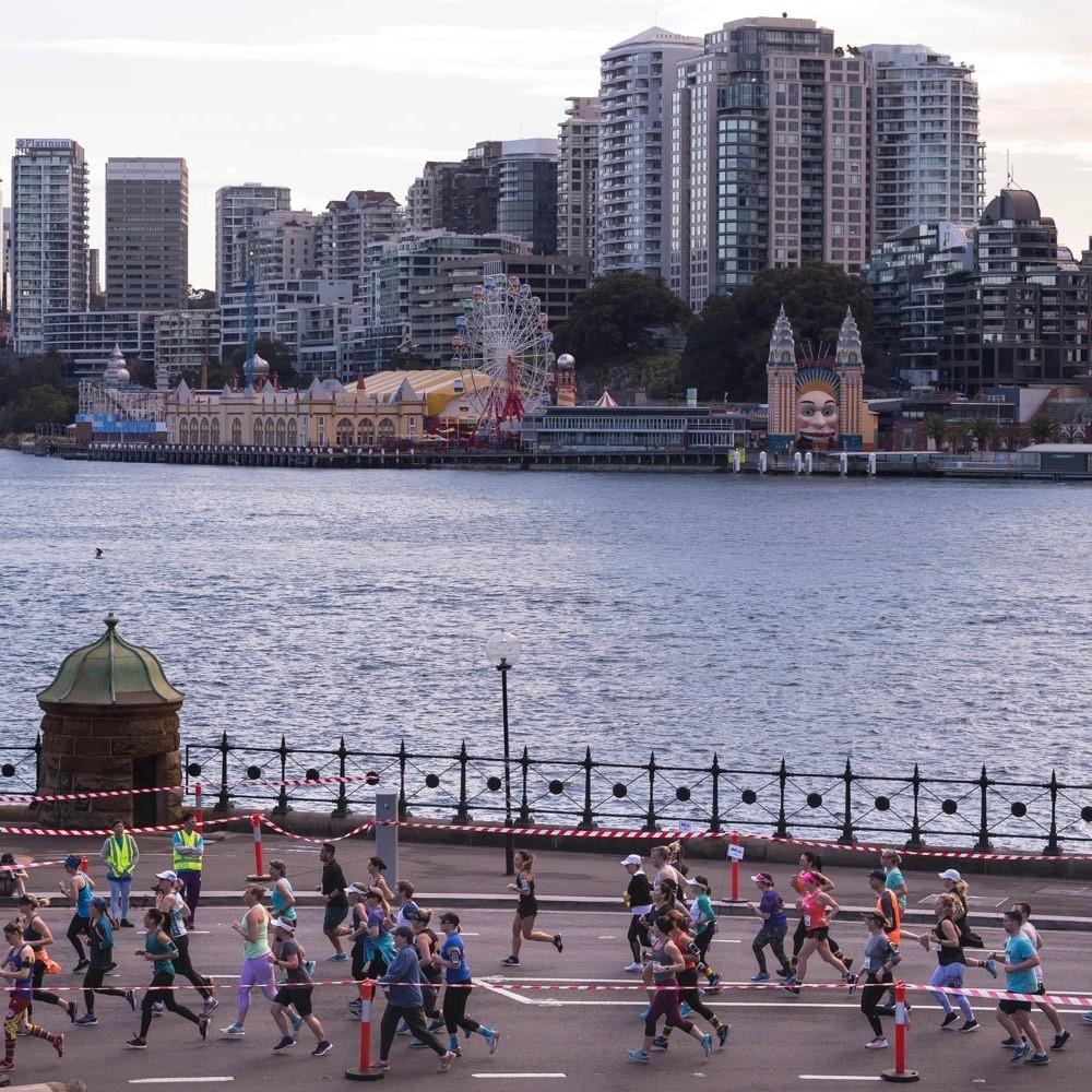 Sydney Harbour views of Luna Park