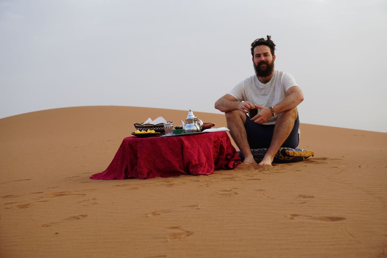 Places To Visit In Morocco, tea in the sahara desert