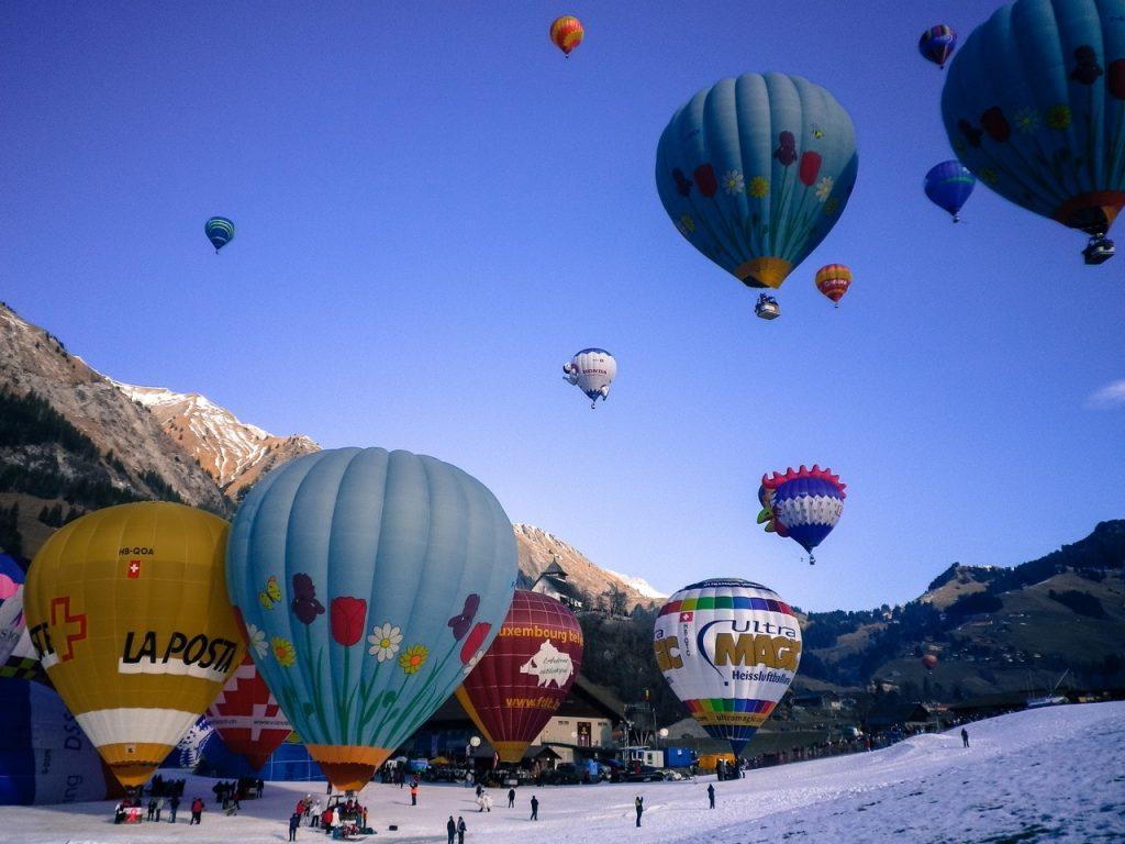 Château-d'Oex hot air balloon Festivals In Switzerland