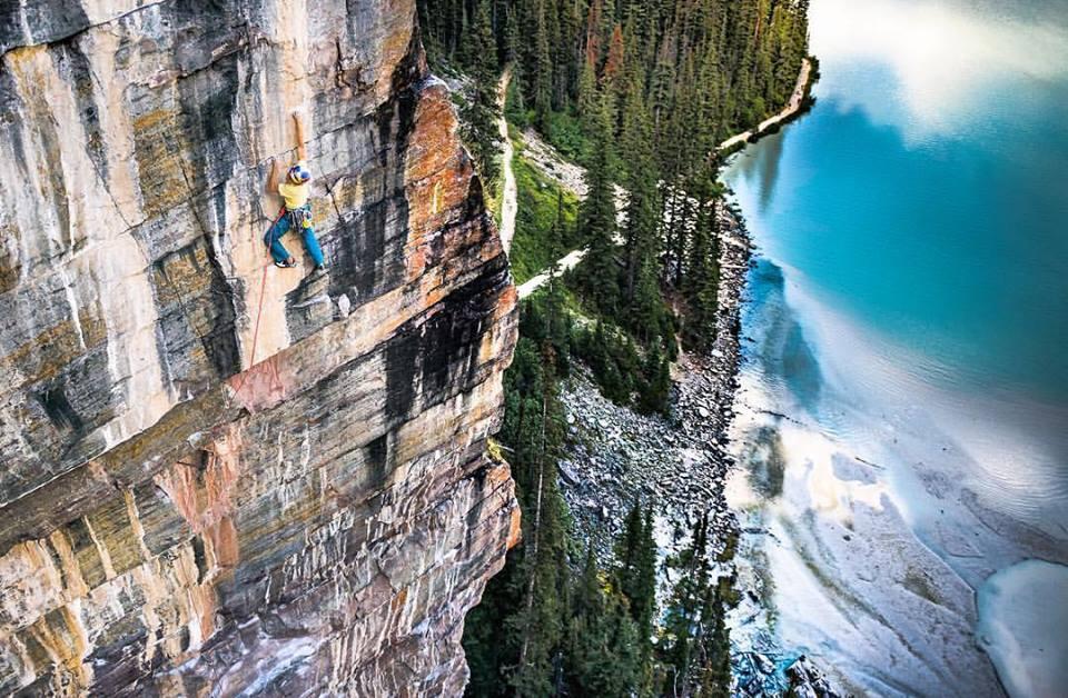 Climbing Photography climber on the rock face