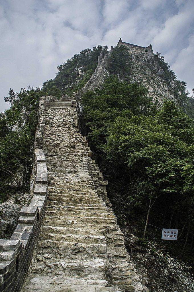 Jiankou Great Wall of China steps going up