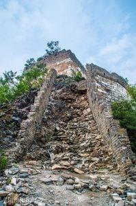 Jiankou Great Wall of China damaged steps