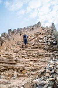 Jiankou Great Wall of China climbing the stairs