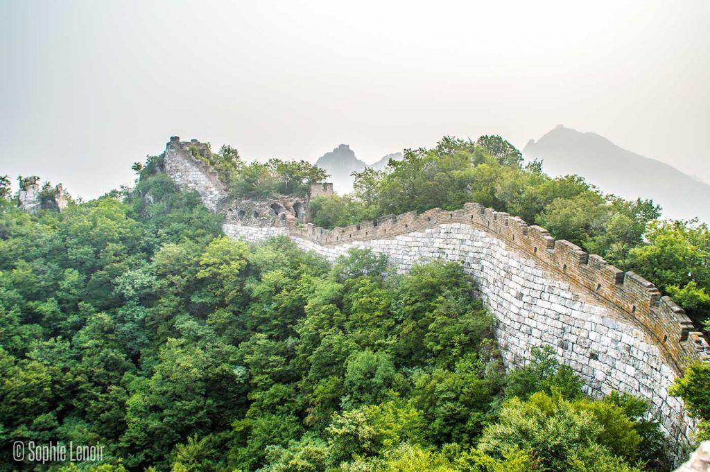 hiking along the Jiankou Great Wall of China