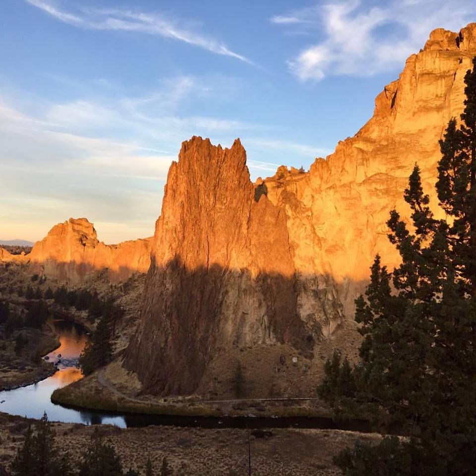 Smith Rock in Oregon in the sun