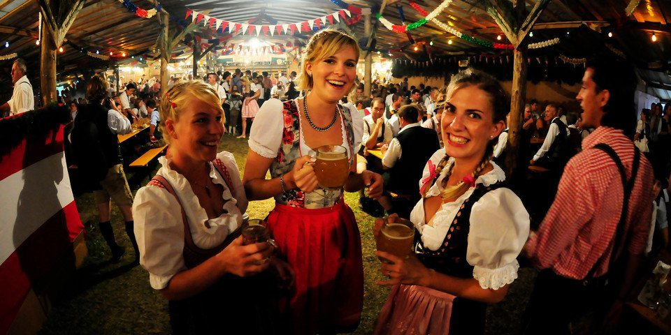 beer tasting at the Altausseer Bierzelt in Austria