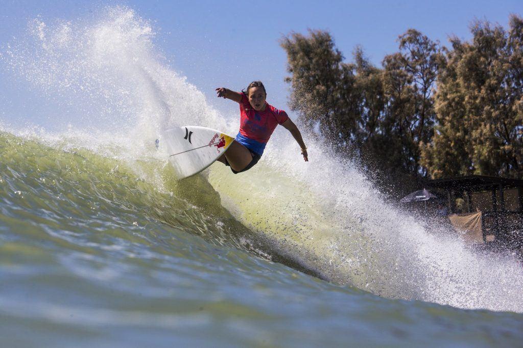 Carissa Moore winning the Surf Ranch Pro