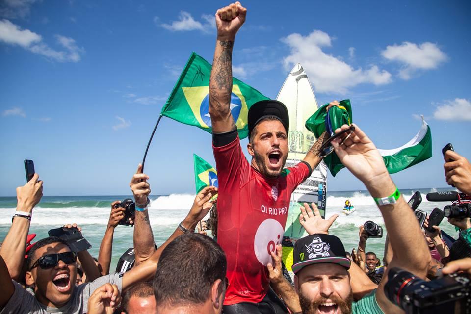 Filipe Toledo winner of the Oi Rio Pro