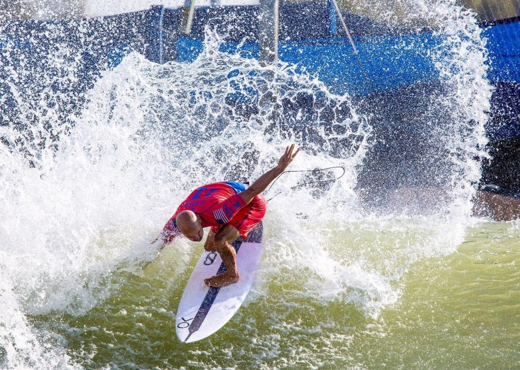 Kelly Slater at Surf Ranch in Lemoore, California