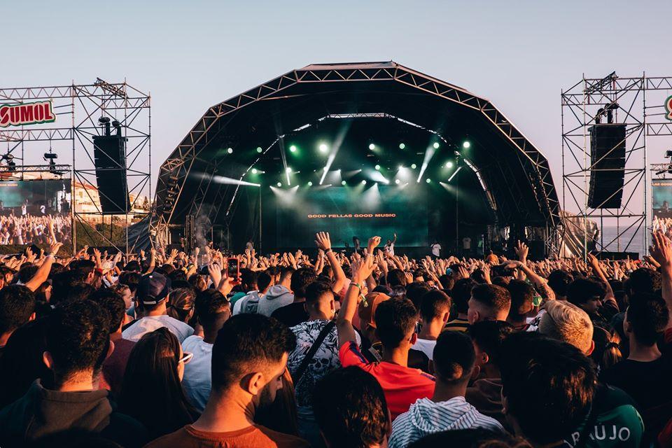 Sumol Summer Fest music festival in Ericeira, Portugal